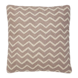 Eichholtz Oroa - Pillow Chatswood Beige - 100% cotton backing - 100% wool embroidery