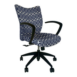 9 to 5 Seating - Upholstered Office Chair - DwellStudio Fabric