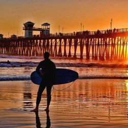 Murals Your Way - Oceanside Pier Sunset, California Wall Art - Photographed by Alan Crosthwaite, the Oceanside Pier Sunset, California wall mural from Murals Your Way will add a distinctive touch to any room