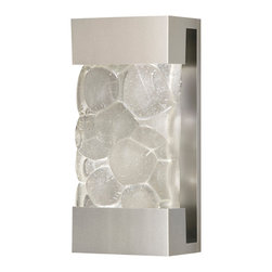 Fine Art Lamps - Crystal Bakehouse River Stone Sconce, 810850-24ST - Enjoy the shimmer of crystal river stones anywhere in your home — inside or out. With this versatile sconce, a hand-crafted, polished block radiates from a bronze, silver or silver-leafed frame.