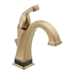 Delta - Delta 551T-CZ-DST Dryden Champagne Bronze Single Handle Lavatory Faucet - Delta 551T-CZ-DST Dryden Champagne Bronze Single Handle Centerset Lavatory Faucet. Featuring geometric lines reminiscent of the Art Deco Period of the Roaring Twenties, Delta's Dryden Collection offers a clean and unique look still popular today. The  focal point of this centerset bathroom sink faucet is Delta's groundbreaking Touch-2-O.xt Technology, giving you the ability to turn this faucet on or off using the traditional single handle, or by a mere touch and now you can even set this faucet to turn off and on simply by being close enough .  The Delta 551T-CZ-DST is ADA compliant and also features Delta's revolutionary Diamond Seal Technology which makes the valve virtually leak-free and extraordinarily durable through the use of an internal contact surface made up of tiny diamonds. This Champagne Bronze Lavatory Faucet is part of the Dryden collection, which offers a full complement of coordinating products to create the perfect look.