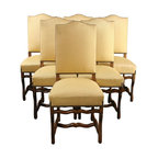EuroLux Home - 6 Vintage Dining Chairs French 1950 Oak - Product Details