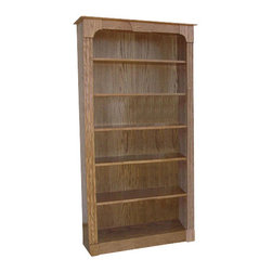 Chelsea Home Furniture - Chelsea Home Raritan 72 Inch Bookcase in Red Oak - This 72-inch Raritan Bookcase in red Oak and Smoked Sand finish gives your living space a rustic feel. It comes complete with 5 adjustable shelves to help you perfectly display all of your favorite novels and textbooks. Add this piece to your home office, library or living room for a cozy country motif. Chelsea Home Furniture proudly offers handcrafted American made heirloom quality furniture, custom made for you. What makes heirloom quality furniture? It�s knowing how to turn a house into a home. It�s clean lines, ingenuity and impeccable construction derived from solid woods, not veneers or printed finishes over composites or wood products _ the best nature has to offer. It�s creating memories. It�s ensuring the furniture you buy today will still be the same 100 years from now! Every piece of furniture in our collection is built by expert furniture artisans with a standard of superiority that is unmatched by mass-produced composite materials imported from Asia or produced domestically. This rare standard is evident through our use of the finest materials available, such as locally grown hardwoods of many varieties, and pine, which make our products durable and long lasting. Many pieces are signed by the craftsman that produces them, as these artisans are proud of the work they do! These American made pieces are built with mastery, using mortise-and-tenon joints that have been used by woodworkers for thousands of years. In addition, our craftsmen use tongue-in-groove construction, and screws instead of nails during assembly and dovetailing _both painstaking techniques that are hard to come by in today�s marketplace. And with a wide array of stains available, you can create an original piece of furniture that not only matches your living space, but your personality. So adorn your home with a piece of furniture that will be future history, an investment that will last a lifetime.