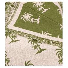 Tropical Throws Avocado Castaway Green Palm Tree Afghan Throw Blanket