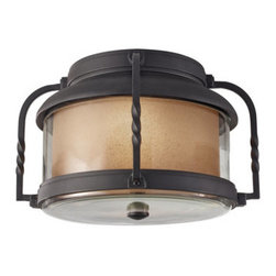 Murray Feiss - Murray Feiss OL9213 Menlo Park 1 Light Outdoor Flushmount Ceiling Fixture - The Menlo Park Collection of outdoor fixtures feature bulbs that are fully enclosed by glass and highly weather resistant.Features: