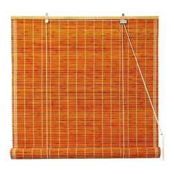 Oriental Unlimited - Burnt Bamboo Roll Up Blinds in Light Brown (7 - Choose Size: 72 in. WideConvey a warm, tropical  spirit through your home's design with these durable burnt bamboo roll up blinds, finished in a warm shade of honey that will complement many different color palettes. Available in your choice of sizes, the blinds will be a warm, welcoming addition to any decor. Burnt bamboo roll up blinds are a versatile addition to any window. They will fit in with any decor. Easy to hang and operate. 24 in. W x 72 in. H. 36 in. W x 72 in. H. 48 in. W x 72 in. H. 60 in. W x 72 in. H