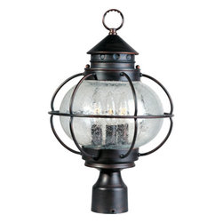Maxim Lighting - Maxim Lighting 30500CDOI Portsmouth 3 Light Post Lights & Accessories in Oil Rub - Portsmouth is a traditional, early American style collection from Maxim Lighting International in Oil Rubbed Bronze finish with Seedy glass.