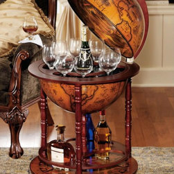 Design Toscano Sixteenth Century Italian Replica Globe Bar - This globe bar is the perfect combination of globe and bar. It's definitely on my wishlist!