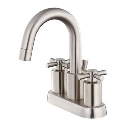 Belle Foret - Belle Foret BFL350SN Centerset Bathroom Sink Faucet in Satin Nickel - Belle Foret BFL350SN Centerset Bathroom Sink Faucet in Satin NickelThe Belle Foret collection includes a full range of kitchen and bath faucets, copper basins, bathtubs, and bath vanities in timeless finishes to perfectly complement any décor. True to the Country French design, these distinctively elegant faucets and fixtures are graced by the rich patina of time - without the wait or expense.Belle Foret BFL350SN Centerset Bathroom Sink Faucet in Satin Nickel, Features:• Lavatory Faucet