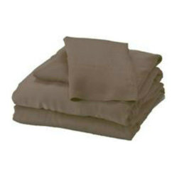 Bamboo Twin XL Sheet Set, Mocha