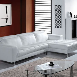 High-class Top Grain Leather Sectional - Features: