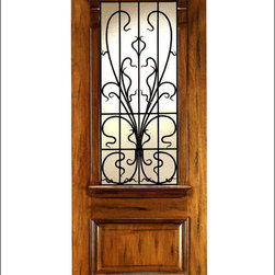 Art Nouveau Entry Doors Model # AN-2009 - Art Nouveau is an art, style, and architecture recognized around the globe.  This door and collection will set you apart from the rest while giving your home a very unique look.  These doors have fine carvings, iron work and most have a operable glass panel to facilitated the cleaning of the iron panel.  Look at the entire collection to find the right fit!