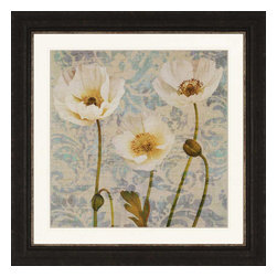 Paragon - Damask Blooms V - Framed Art - Each product is custom made upon order so there might be small variations from the picture displayed. No two pieces are exactly alike.