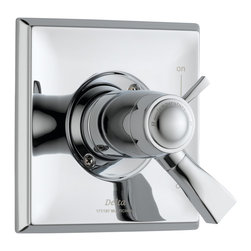 Delta - Dryden TempAssure 17T Series Thermostatic Valve Trim Only in Chrome - Delta T17T051 Dryden TempAssure 17T Series Thermostatic Valve Trim Only in Chrome.