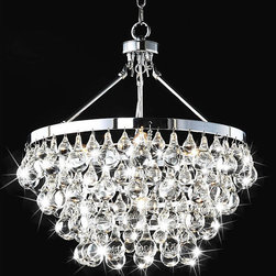 Indoor 5-Light Luxury Crystal Chandelier - I love how glam this is.