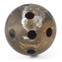 "Knobco - Polka Dotted Glass Knob, Clear knob with Black Polka dots - Clear knob with Black Polka dots glass knob. Unique glass knobs for your kitchen cabinets. 1.1"" in   diameter.   Includes screws for installation."