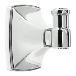 Amerock - Amerock Clarendon Chrome Robe Hook - Add a sophisticated, modern look to your bathroom decor with this Amerock Clarendon robe hook. This hook features a stylish chrome finish.