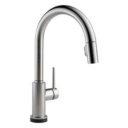 Delta Faucet - Pull-Down Faucet Arctic Stainless Touch2O - 9159T-AR-DST Trinsic 1-Handle Pull-Down Sprayer Kitchen Faucet in Arctic Stainless featuring Touch2O Technology