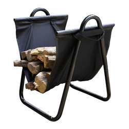 Crosley - Logan Firewood Storage Carrier in Black - Dimensions:  17 x 15 x 2 inches