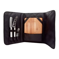 Franmara - Picnic Cheese Set with Three Cheese Knives, Cutting Board, Carry Case - Item SKU: SSFWA1084BX
