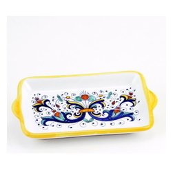 Artistica - Hand Made in Italy - RICCO DERUTA: Butter Dish - Small Tray - RICCO DERUTA: This product is part of the renown Ricco Deruta Collection.