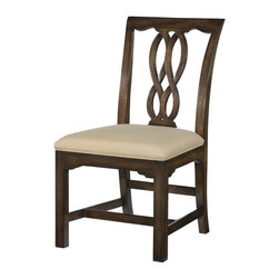 EuroLux Home - New Dining Side Chair Chippendale Aged - Product Details