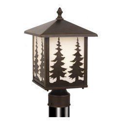 Vaxcel - Yosemite Burnished Bronze Outdoor Post Light - Vaxcel OP33485BBZ Yosemite Burnished Bronze Outdoor Post Light