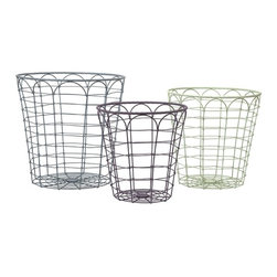 "IMAX CORPORATION - Connor Metal Baskets - Set of 3 - Expertly crafted from metal, the Connor metal baskets are the perfect way to add storage and a subtle rustic touch to any space. Set of 3 baskets in varying sizes measuring approximately 12.75-14.25-16.25""H x 12.5-14-16""W x 12.5-14-16"" each. Shop home furnishings, decor, and accessories from Posh Urban Furnishings. Beautiful, stylish furniture and decor that will brighten your home instantly. Shop modern, traditional, vintage, and world designs."