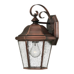 Hinkley Lighting - Clifton Beach Medium Wall Outdoor Lantern - Like the Clifton Park Collection, the Clifton Beach is a strong design that has all the hallmarks of traditional good taste. Comes in Antique Copper finish. Takes 1 75 Watt Medium Bulb.