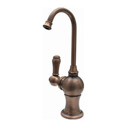 Whitehaus - Forever Hot Instant Water Dispenser Faucet (M - Color: Mahogany BronzePictured in antique copper. Includes gooseneck spout. Self closing handle. Fits counter tops up to 2.25 in.. Can be used with wh-tank only. 2.75 in. W x 7 in. H (3 lbs.). Warranty