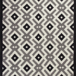 KAS - KAS Solstice 4003 Diamonds (Black, White) 8' x 10' Rug - This Hand Woven rug would make a great addition to any room in the house. The plush feel and durability of this rug will make it a must for your home. Free Shipping - Quick Delivery - Satisfaction Guaranteed
