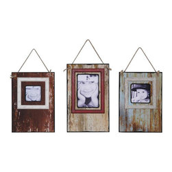 Distressed Photo Frames - Warm up your home's industrial look with these Distressed Photo Frames. Made in three different styles, the frames have a richly textural rustic finish.