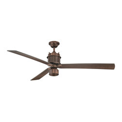 "Savoy House Lighting - Savoy House Lighting 56-870-3CN-35 Muir 56"" Transitional Ceiling Fan - The Savoy House Muir ceiling fan is the picture of industrial chic sophistication!   This cutting edge collection boasts a Byzantine Bronze  finish ,  Chestnut  blades, and an integrated halogen light kit with optional light cap."