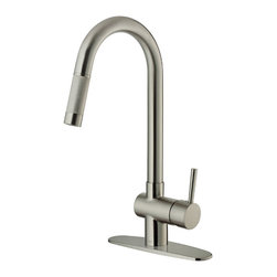 Vigo - Vigo Stainless Steel Pull-Out Spray Kitchen Faucet with Deck Plate - Improve the look of your kitchen by adding a stylish and durable Vigo faucet.