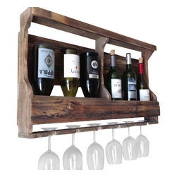 (del)Hutson Designs - 2014 Opposites Attract - Barn Wood Wine Rack - This item is made with salvaged wood.