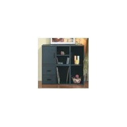Foremost - 5-in-1 Modular Storage System (Honey), Black - Finish: Black. Includes shelf cube, 2-drawer cube, door cube, open cube and large divided cube. Made from wood, particle board, MDF and PE veneer. Assembly required. Small cubes: 15 in. W x 15 in. D x 15 in. H. Large cube: 30 in. W x 15 in. D x 15 in. H. Overall weight: 13.75 lbs.Customize the storage area in any room with this five-in-one modular storage system. With open storage, drawers and a cabinet, this piece offers a place for all of your items.