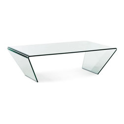 ZUO Modern - Migration Coffee Table by ZUO Modern - Flowing in form and function, the Migration coffee table is made from a single piece of bent semi-tempered glass with frosted bands.