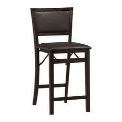 "Linon - Triena - Pad Back Folding Center Stool 24"" - Dimensions: 20.1 x 16.9 x 35 inches"