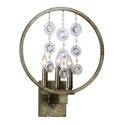 Cyan Design - Emila Three Light Wall Bracket - Emila three light wall bracket - silver leaf