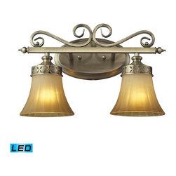 ELK Lighting - ELK Lighting 11427/2-LED Claremont Colonial Bronze 2 Light Vanity - ELK Lighting 11427/2-LED Claremont Colonial Bronze 2 Light Vanity