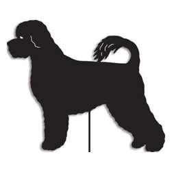 Rustica Ornamentals - Portuguese Water Dog Garden Stake or Wall Hanging - This handcrafted Portuguese Water Dog will be a charming and fun piece to add to any home or garden decor.