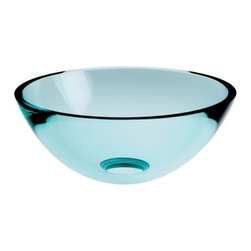 "WS Bath Collections - Acquaio 53695.80 Glass Sink 11.8"" - Serve up a heaping bowl of style. This superb sink is crafted from thick, lustrous glass in a generous bowl shape that gets mounted to your favorite counter or vanity. Perfect for a guest bath, it's small — but mighty pretty."
