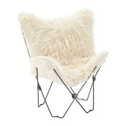 Furlicious Butterfly Chair - I see myself in this butterfly chair with my feet raised and my head back. Summer perfection!