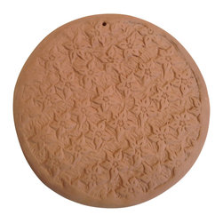 Clayworks Studio/Gallery - Artisan Clay Baking Stone, Round - The best pizza and artisan breads are baked in traditional stone lined ovens. These handmade baking stones give you the same even baking and crisp crust in a home oven or backyard grill.