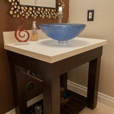 Mediterranean Bathroom Vanities And Sink Consoles by Kitchens Etc. of Ventura County