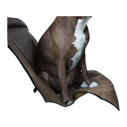 MAJESTIC PET PRODUCTS - Universal Waterproof Bucket Seat Cover - Protect your front seat while your pet rides next to you with this seat cover. Two adjustable back straps and elastic base straps hold it in place, keeping your dog safe.