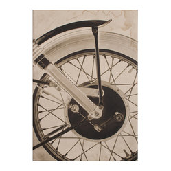 Motorcycle Wheel Photo Wall Art, Unframed