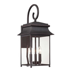 Savoy House - Savoy House 5-9541-25 Durham Large Lantern W/ Scroll - Brighten your home with durham, a classicly styled exterior light from Savoy House. This timeless lantern has Clear glass and a Slate finish.