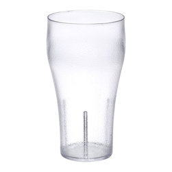 Get Melamine - Textured Tumblers 20 oz 3.5 x 6.5 Bell Soda Tumbler Clear SAN/Case of 72 - Descriptions: 20 oz. /23.7 oz. Rim Full/ 3.5 inch Bell Tumbler 6.5 inch Tall