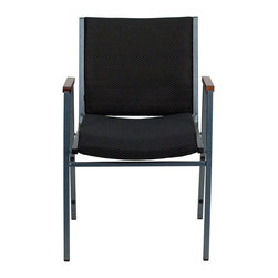 Flash Furniture - Flash Furniture Hercules Series Upholstered Stack Chair in Black - Flash Furniture - Stacking Chairs - XU60154BKGG - This functional stack chair can be used in a multitude of environments from small to large. The versatility of the chair makes it appropriate to use in the Church Offices and Training Rooms or in the Classroom or Home. The thick padded seat and back will keep users comfortable throughout the duration of the day. Not only is this chair comfortable but it is very durable with its heavy duty frame with bumper guards that will prevent the finish on the frame from being scratched when stacked. So when in need of temporary or permanent seating this multi-purpose stack chair is sure to meet the needs for any venue. [XU-60154-BK-GG]